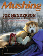 Nikko on the cover of Mushing Magazine