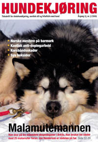 Hooch on the cover of Hundekjoring